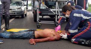 Homem é atropelado ao tentar atravessar rua no Parque Industrial