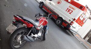 Após queda de moto, dois ficam feridos