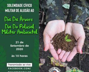 Polícia Militar Ambiental realiza solenidades em comemoração ao seu dia e ao dia da árvore