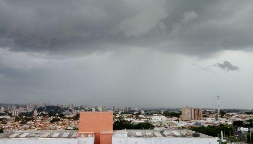 Previsão é de tempo nublado e com chuva neste fim de semana