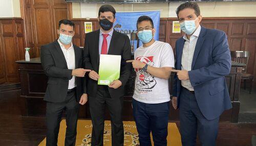 Vereador Bruno Zancheta solicita recursos a Deputados Arthur do Val e Kim Kataguiri em visita à São Carlos
