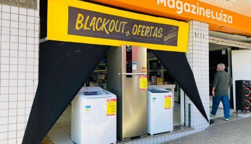 Neste sábado (24) o Magalu estará aberto até as 17h com o blackout de ofertas
