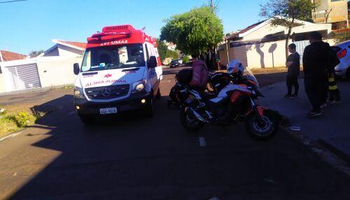 Motociclista leva a pior em acidente de trânsito