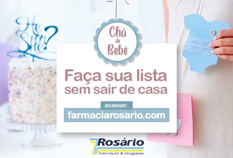 Farmácia Rosário inova e lança nova função em seu site que permite que mamães criem sua lista de Chá de Bebê e recebam os produtos sem sair de casa