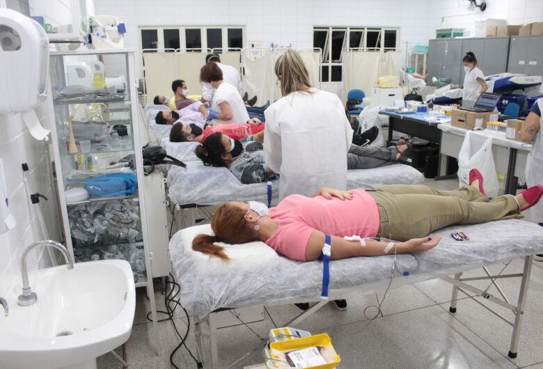 UNICEP arrecada 41 bolsas de sangue para o Amaral Carvalho