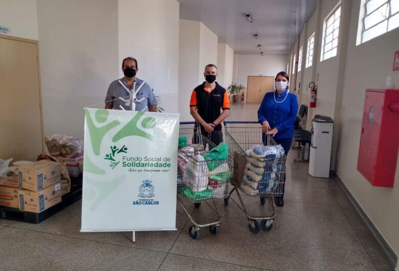 Academia Território Fit realiza doação de alimentos ao Fundo Social de Solidariedade
