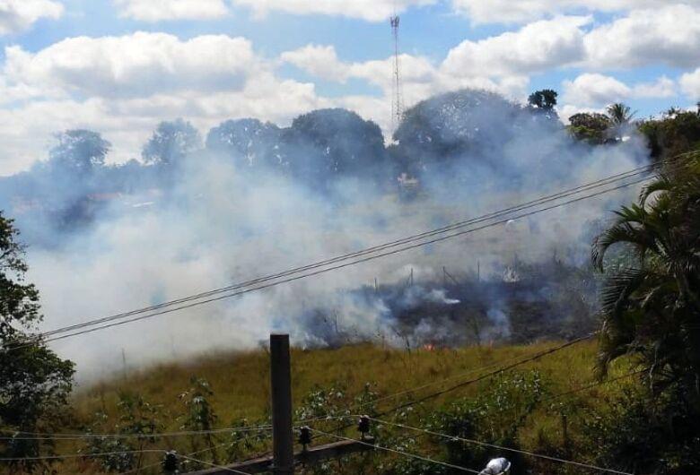 Leitor registra queimada no Cidade Jardim