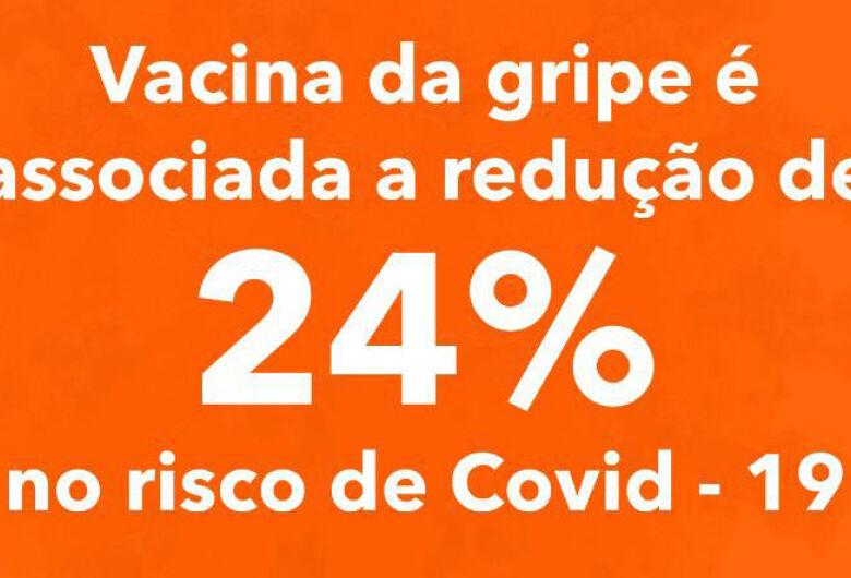 Vacina da gripe é associada a redução de 24% no risco de Covid-19, aponta pesquisa
