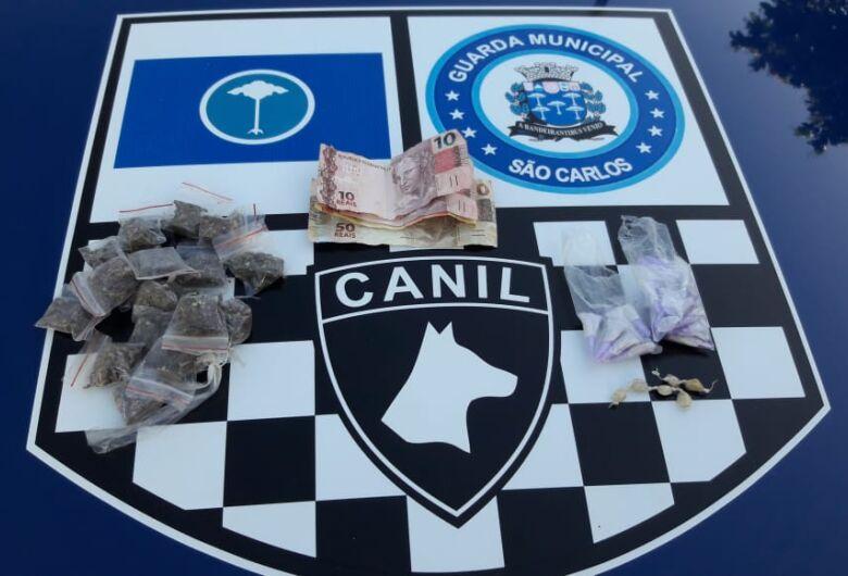 Canil da GM prende homem por tráfico no Santa Felícia
