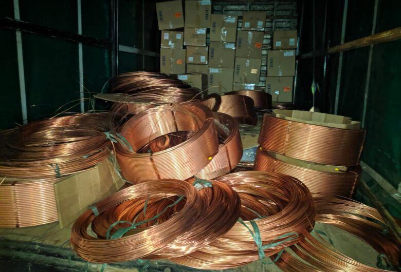 Trio é detido após furtar 2 toneladas de cobre de empresa de São Carlos