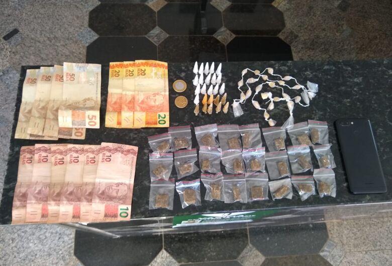 Trio é detido por tráfico de drogas em Ibaté