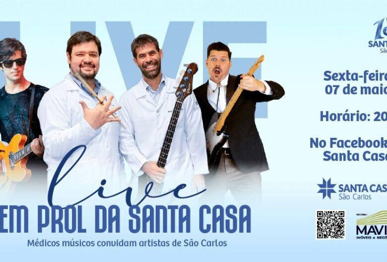 Artistas de São Carlos fazem lives em prol da Santa Casa