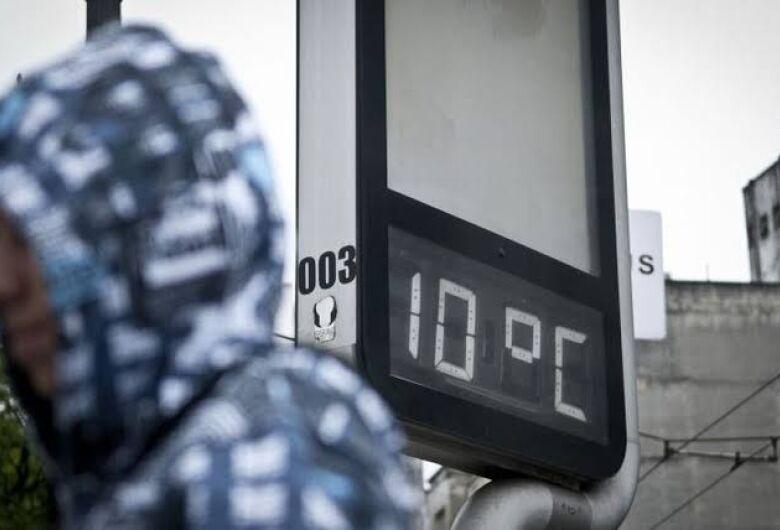 Defesa Civil emite alerta para frio intenso nos próximos dias