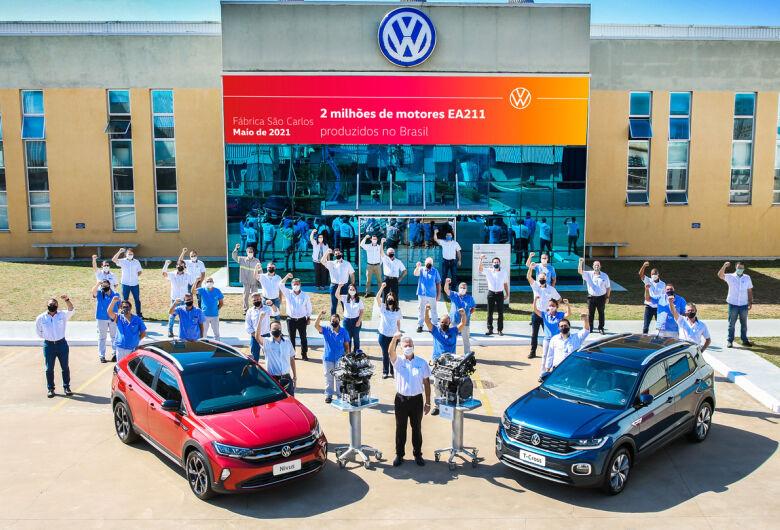 VW São Carlos alcança 2 milhões de motores EA211 produzidos