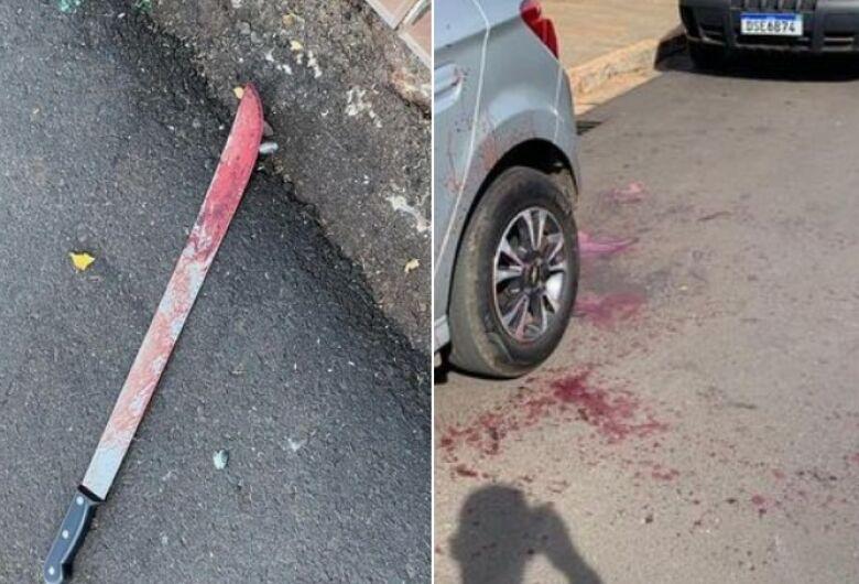 Homem é morto com golpe de facão após briga de trânsito