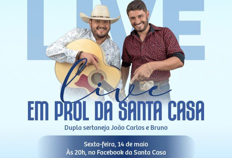 João Carlos e Bruno participam de live em prol da Santa Casa