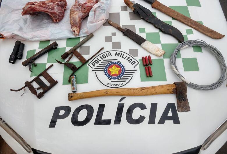 Polícia Ambiental apreende armadilhas para captura de animais