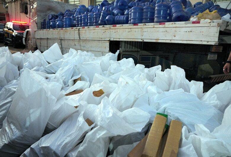Ação rápida e conjunta entre policiais federais resulta na apreensão de 5,65 toneladas de maconha