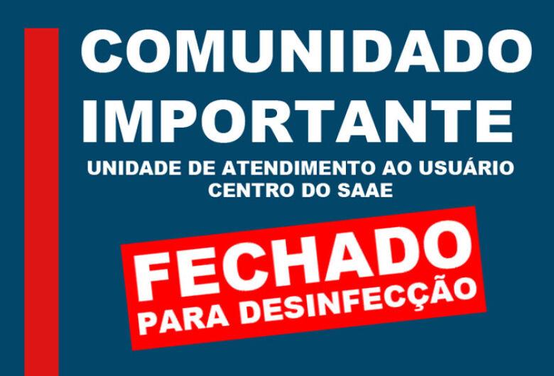 Servidor testa positivo para Covid-19 e Saae fecha Unidade de Atendimento ao Usuário