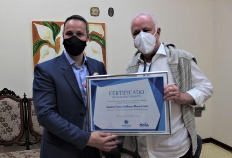 Capitão Derrite visita Santa Casa e reforça compromisso com o hospital para o enfrentamento da pandemia