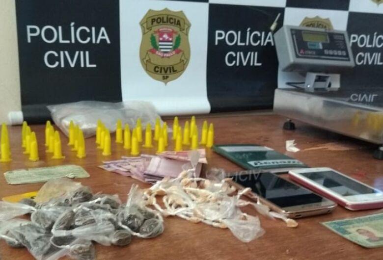 Acusado de tráfico é detido pela Polícia Civil em Porto Ferreira