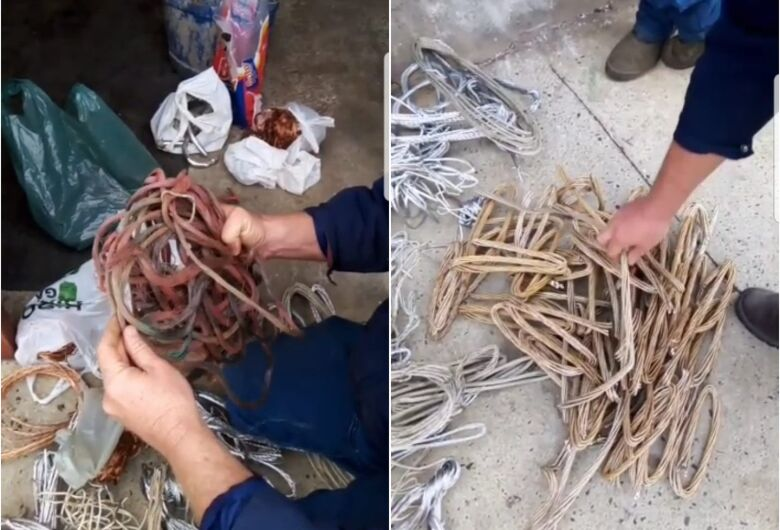 Polícia Civil e GM prendem comerciante acusado de comprar fios e cabos furtados em Ibaté