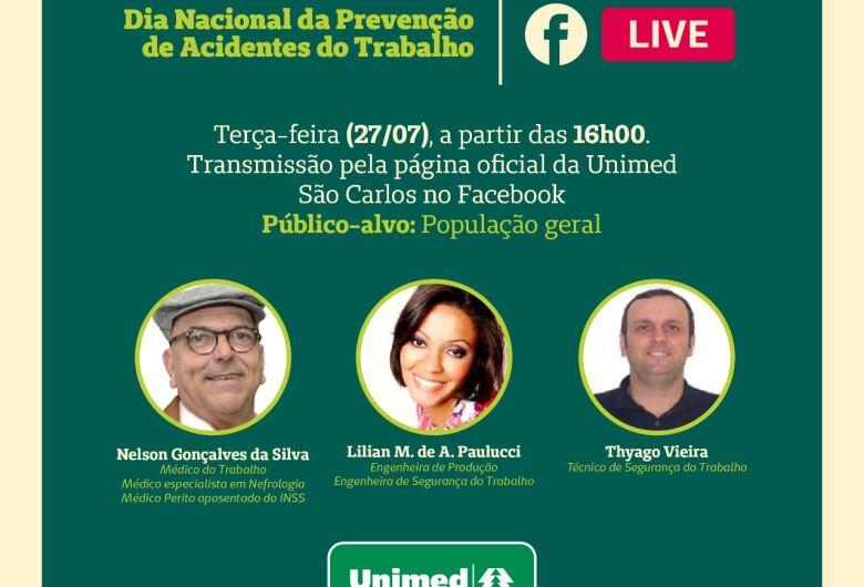 Unimed São Carlos realiza live sobre Segurança do Trabalho
