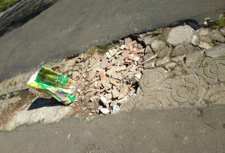 Moradores do Parque Delta sofrem com buracos em rua