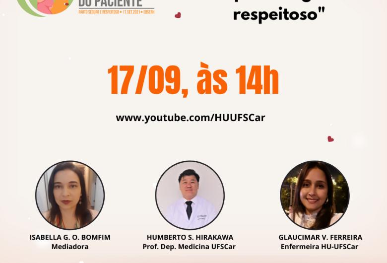 HU promove live sobre assistência segura no cuidado materno e neonatal