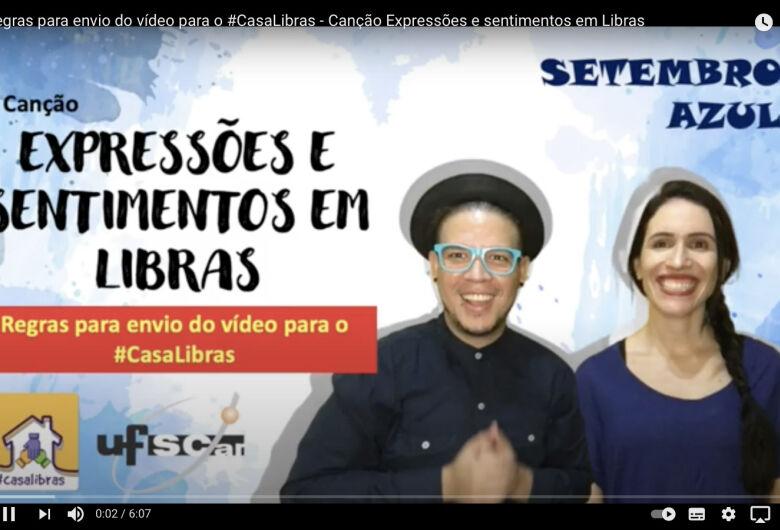 Campeonato convida crianças para recontarem, em vídeo, música em Libras