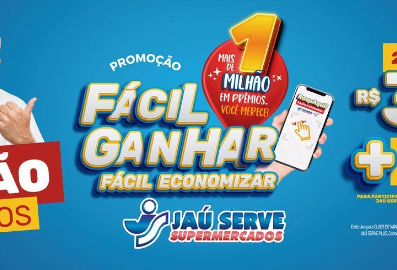 Em 2021 o Jaú Serve Supermercados comemora aniversário com o lançamento da Promoção Fácil Ganhar, Fácil Economizar