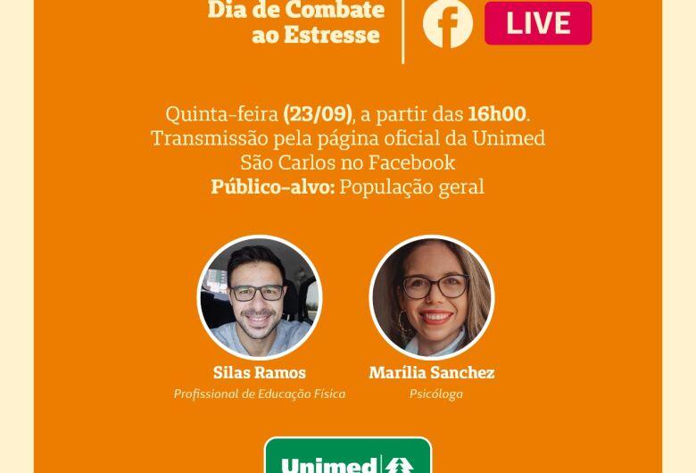Unimed São Carlos realiza live sobre o Dia de Combate ao Estresse