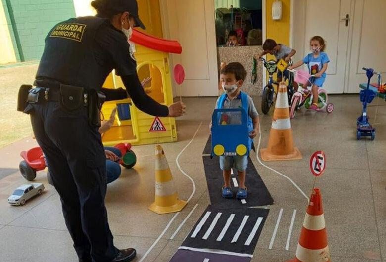 """Escola Municipal """"Bruna Esposito"""" de Ibaté realizou nesta semana o Projeto """"Educação no trânsito"""""""