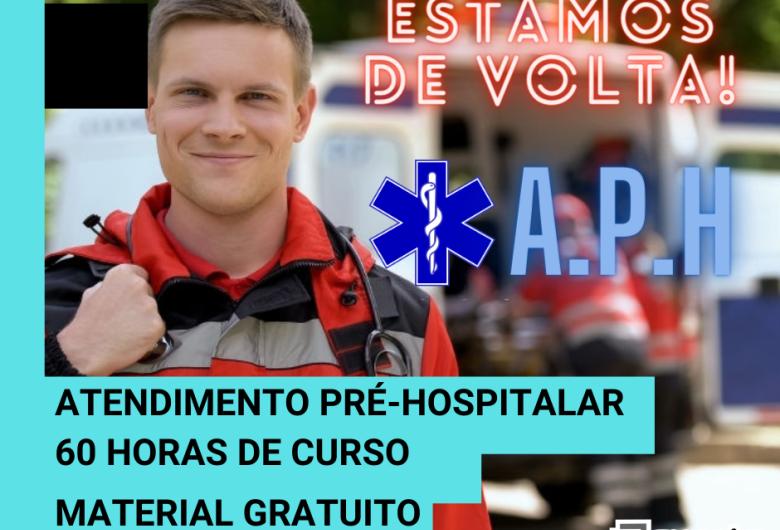 Inscrições abertas para curso de Atendimento Pré-hospitalar (APH) com início em 07 de outubro