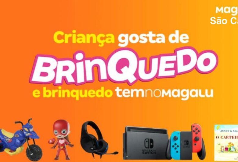 Magazine Luiza oferece condições e parcelamentos facilitados na compra de brinquedos no mês das crianças
