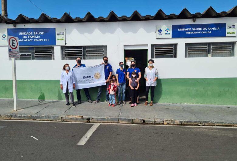 Rotarianos apoiam a campanha de vacinação contra a Poliomelite em São Carlos