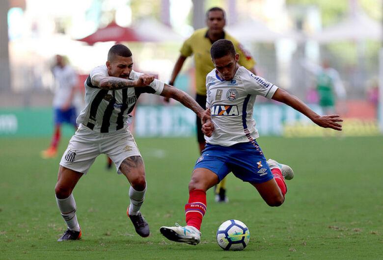 Santos sofre gol no último minuto e perde para o Bahia