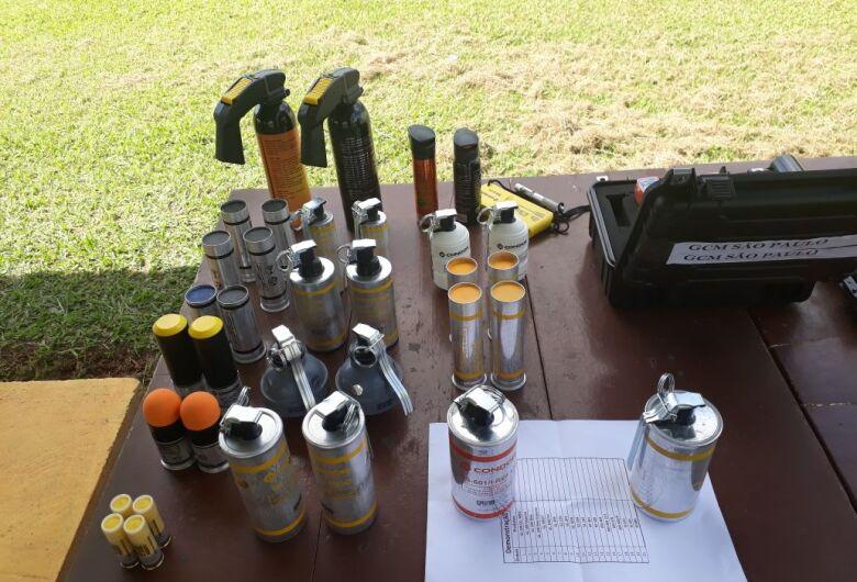 Guarda Municipal de Ibaté participa de apresentação de armas não letais