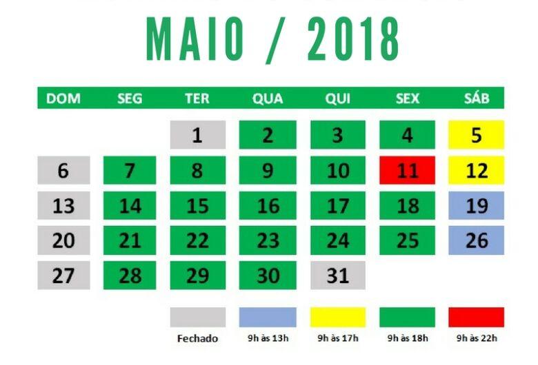 Comércio de São Carlos terá horário especial no mês de maio