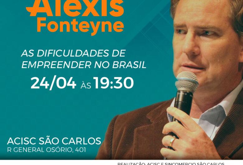 """""""As dificuldades em Empreender no Brasil"""" é tema de palestra"""
