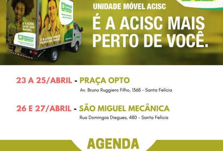 Agenda da Unidade Móvel Acisc - De 23 a 27 de abril