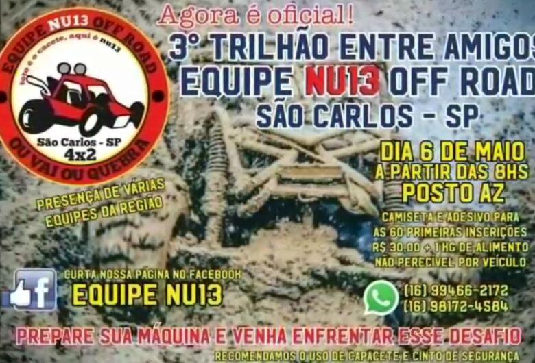 Vem aí o 3º Trilhão Entre Amigos em São Carlos
