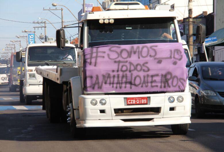 Guincheiros fazem protesto no Centro de São Carlos