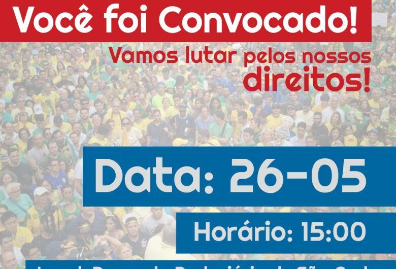 São-carlenses se unem para mais um manifesto por um Brasil melhor