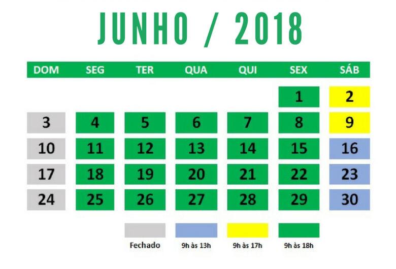 Acisc informa o horário especial do comércio para junho