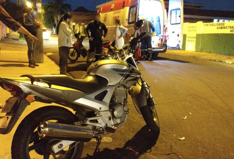 Motociclista sofre acidente no Centro