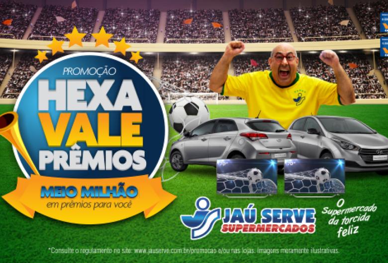 Na promoção Hexa Vale Prêmios do Supermercados Jau Serve os clientes podem ganhar até meio milhão de reais em prêmios