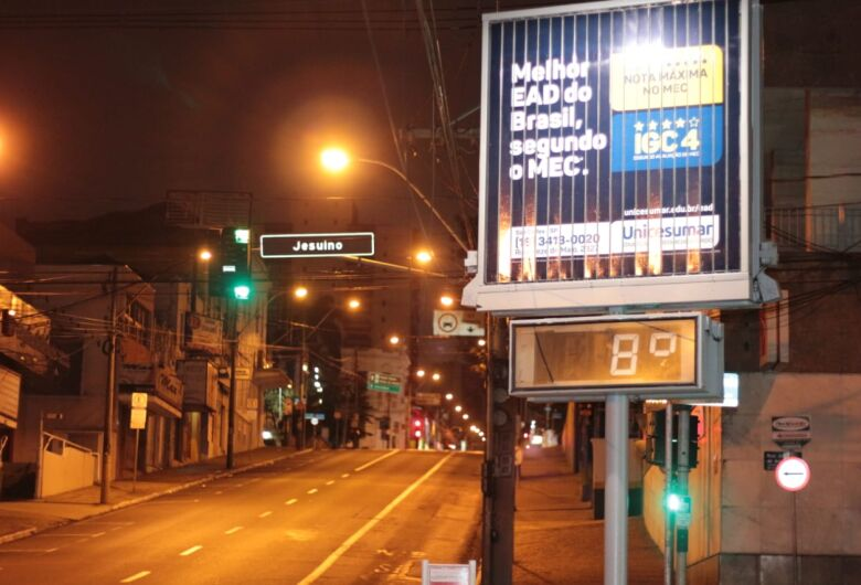 São Carlos registra a temperatura mais baixa do ano