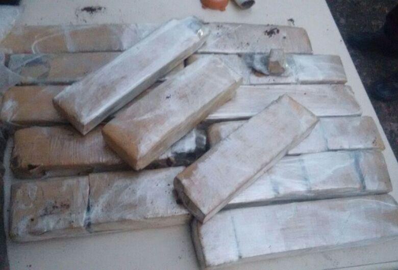 Operação da PM termina com a apreensão de 14 quilos de maconha em Ibaté