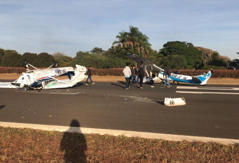 Dois aviões se chocam em aeroclube na região